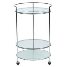 Roberta Side Table in Frosted and Clear Glass  and  Chrome
