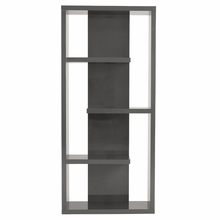 Robyn Shelving Unit in Gray Lacquer