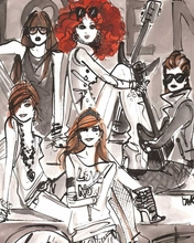 Rock Girls Bandillos Canvas Wall Art