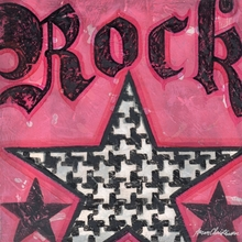 Rock Houndstooth Star Canvas Wall Art