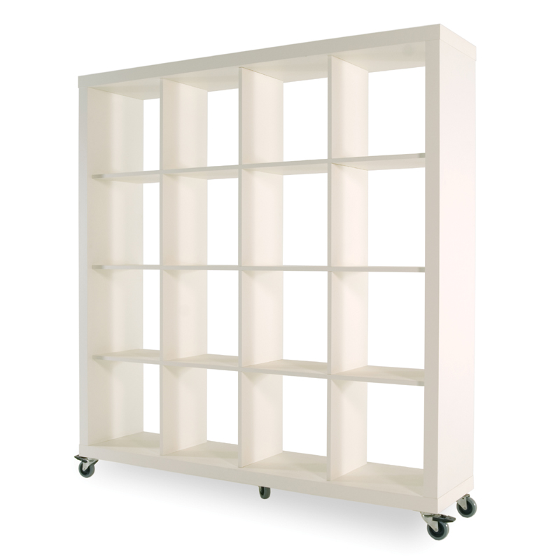 Rolly Mobile Bookcase 4 x 4 - District17: Rolly Mobile Bookcase 4 X 4: Bookshelves