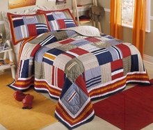 Ronnie Patchworks Quilt with Sham