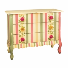 Rose Pink and Green Painted Chest