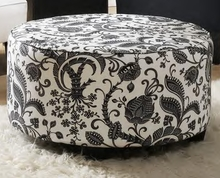 Round Cocktail Upholstered Ottoman