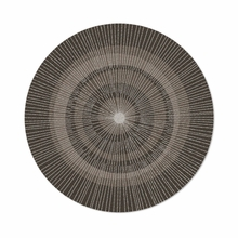 Round Eccentric Rug in Dark Sable