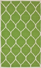 Round Trellis Rug in Green