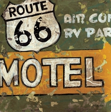 Route 66 Motel Canvas Wall Art