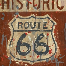 Route 66 sign Canvas Wall Art
