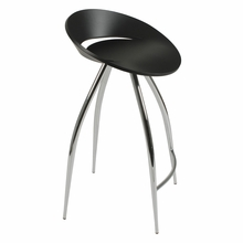 Rubin Counter Stool in Black and Chrome