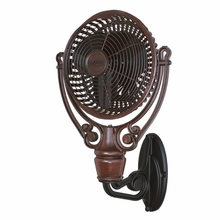 Rust Old Havana Wall Mount Fan