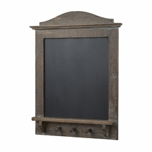 Rustic Chalkboard With Coat Hooks