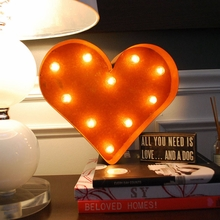 Rusty 12 Inch Heart Marquee Light