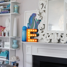 Rusty 12 Inch Letter E Marquee Light