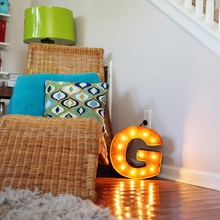 Rusty 12 Inch Letter G Marquee Light