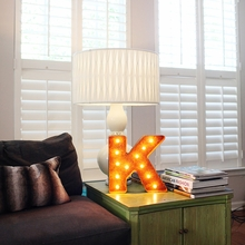 Rusty 12 Inch Letter K Marquee Light