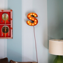 Rusty 12 Inch Letter S Marquee Light