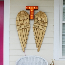 Rusty 12 Inch Letter T Marquee Light