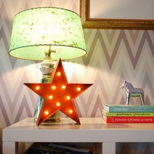 Rusty 12 Inch Star Marquee Light