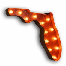 Rusty 24 Inch Florida Marquee Light