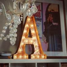 Rusty 24 Inch Letter A Marquee Light