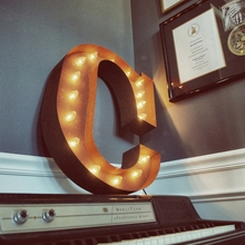 Rusty 24 Inch Letter C Marquee Light