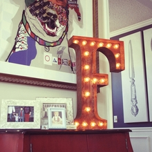 Rusty 24 Inch Letter F Marquee Light
