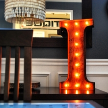 Rusty 24 Inch Letter I Marquee Light
