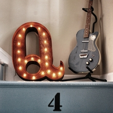 Rusty 24 Inch Letter Q Marquee Light