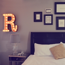 Rusty 24 Inch Letter R Marquee Light