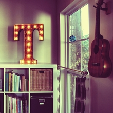 Rusty 24 Inch Letter T Marquee Light