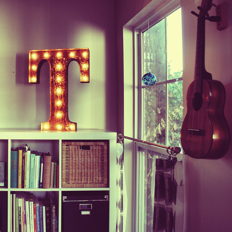 rusty 24 inch letter t marquee light - Marquee Letter Lights