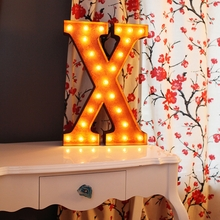Rusty 24 Inch Letter X Marquee Light