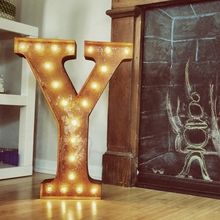 Rusty 24 Inch Letter Y Marquee Light