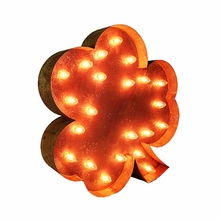 Rusty 24 Inch Shamrock Marquee Light