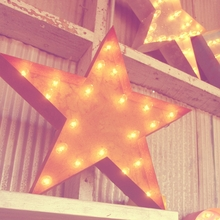 Rusty 24 Inch Star Marquee Light