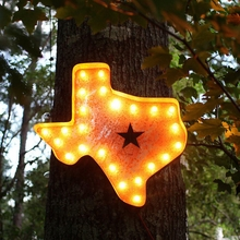 Rusty 24 Inch Texas Marquee Light