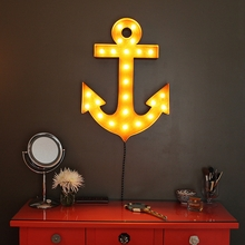 Rusty 30 Inch Anchor Marquee Light