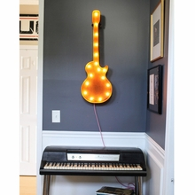 Rusty 36 Inch Guitar Marquee Light