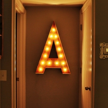 Rusty 36 Inch Letter A Marquee Light