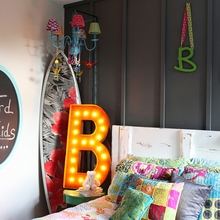 Rusty 36 Inch Letter B Marquee Light