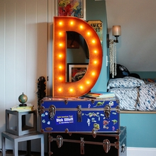 Rusty 36 Inch Letter D Marquee Light
