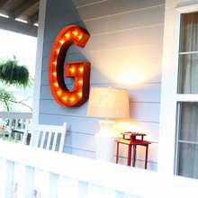 Rusty 36 Inch Letter G Marquee Light