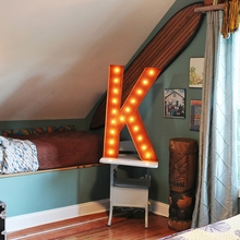 Rusty 36 Inch Letter K Marquee Light
