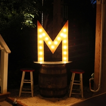 Rusty 36 Inch Letter M Marquee Light