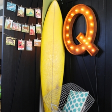 Rusty 36 Inch Letter Q Marquee Light