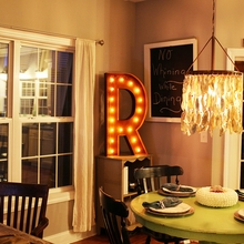 Rusty 36 Inch Letter R Marquee Light