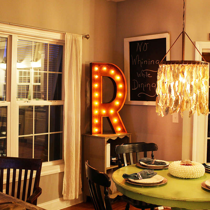 rusty 36 inch letter r marquee light - Lighted Marquee Letters