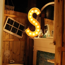 Rusty 36 Inch Letter S Marquee Light
