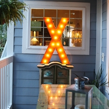 Rusty 36 Inch Letter X Marquee Light