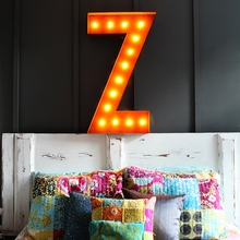 Rusty 36 Inch Letter Z Marquee Light